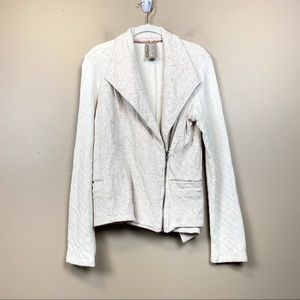 Anthropologie Dolan flecked Moto zip jacket L